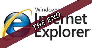 הסוף של Microsoft Internet Explorer